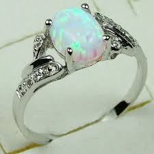 white fire rings images Fire opal engagement rings engagement ring usa jpg