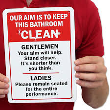 keep the bathroom clean toilet humorous sign keep bathroom clean best prices sku s 5611