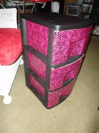 a once plain sterilite 3 drawer plastic drawer set from walmart