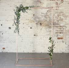 wedding backdrop for pictures copper wedding backdrop frame for flowers and garlands by