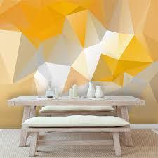 discount modern yellow geometric wallpaper mura art mural