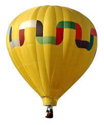 yellow air balloon transparent png stickpng