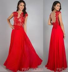 Wedding Evening Dresses China Red Chiffon Beach Wedding Dress Backless Party Prom Evening