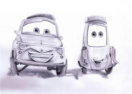 cars drawings luigi and guido cars by envoysoldier on deviantart