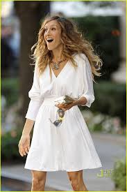 sarah jessica parker white cocktail party dress in u201csex and the