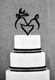 buck and doe heart buck and doe heart wedding cake topper deer cake wedding
