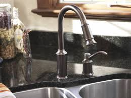 bronze kitchen faucet moen 7590orb aberdeen single handle pullout kitchen faucet