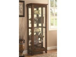 value city furniture curio cabinets coaster curio cabinets 5 shelf curio cabinet with warm brown finish