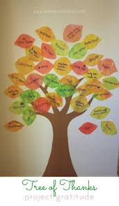 tree of thanks activity for thanksgiving project gratitude