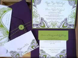 purple green wedding invitations paperinvite