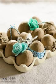 faux easter eggs easter egg decor using faux eggs and ribbon