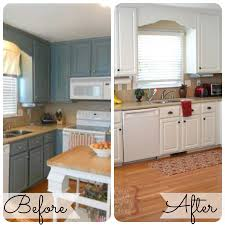 Painting Old Kitchen Cabinets Before And After Painted Kitchen Cabinets Before And After
