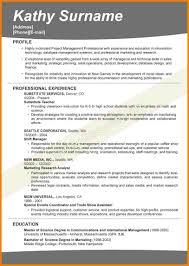 resume format for operations profile 4 effective resume format inventory count sheet effective resume format 11 effective resume templates samples