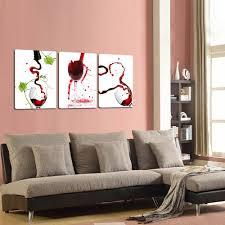 livingroom paintings amazon com creative art large red wine glasses canvas art