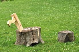 Stump Chair Axe And Stump Lounge Chair Gives New Life To Upturned Tree Trunks
