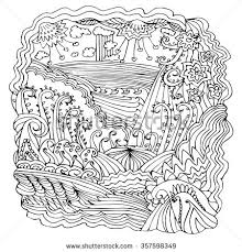 hand drawn abstract coloring page can stock vector 357598349