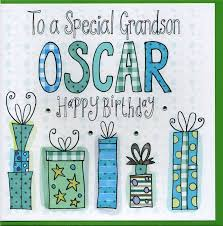 personalised grandson birthday card by claire sowden design