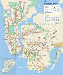 New York Maps New York City Mta Subway Map New York Map