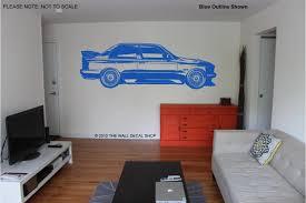 bmw m3 e30 evo wall art decal sticker ebay
