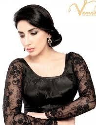 open blouse vamas black fancy back open blouse x 136 black at rs 2350