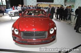 bentley 2018 2018 bentley continental gt at iaa indian autos blog