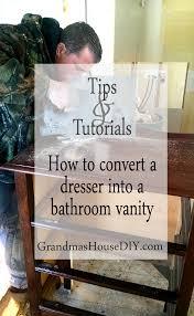 Do It Yourself Wood Floors How To Convert A Dresser Into A Bathroom Vanity For A Main Floor Bath