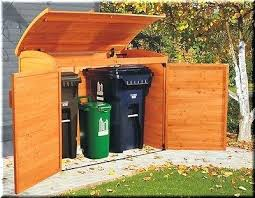 Backyard Garbage Cans by Outdoor Trash Bin Storage Cabinet Outdoor Garbage Can Storage