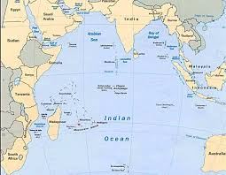 India On World Map Indian Ocean Africa Map Africa Map