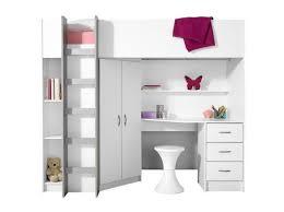 lit combiné bureau fille lit mezzanine avec bureau rangements chambre fille
