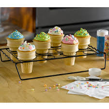 cake cones cupcake cone baking rack holds up to 12 cake cones kitchen krafts