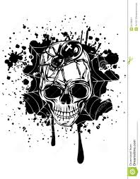 abstract background skull spider and web stock vector illustration