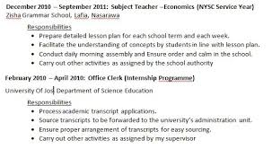 cv review note part 3 nysc u0026 industrial training work