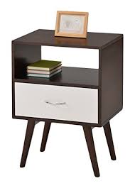 amazon com ehomeproducts side end table nightstand with drawer