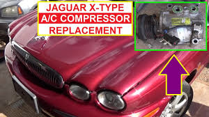 how to remove and replace the air conditioner compressor on jaguar