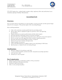 Resume Examples For Clerical Positions by Accounts Payable Resume Cover Letter Sample Docoments Ojazlink