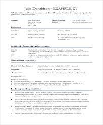 curriculum vitae template leaver resume 10 sle medical curriculum vitae templates pdf doc free