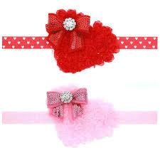 s headbands heart shaped girl hairband sequin bow kids elastic belt