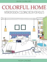 home interior book colorful home interior design coloring book for adults house