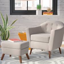 henley barrel chair and ottoman u0026 reviews birch lane