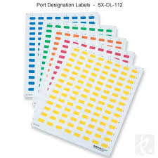 Patch Panel Label Template Excel Signamax Printable Port And Faceplate Designation Labels