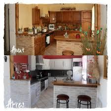 cuisine avant apres avant après photo de rénovation cuisine patine métaline et