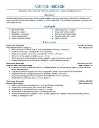 Stockroom Resume Stock Associate Resume Sample Contegri Com