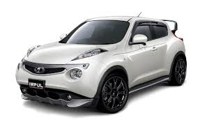 nissan juke black making out with giant spoilered body kitted frogs the impul