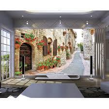 fleurs dans une chambre 3d peintures murales photo étanche papier peint 3d ville