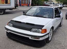 custom honda crx cobra 1988 u2013 1991 honda civic crx custom bra car front hood mask