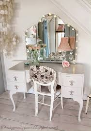 makeup vanity table with lights white antique french style
