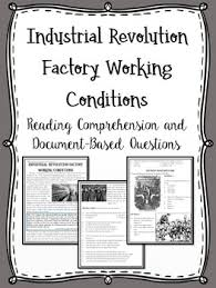 factory work during industrial revolution reading comprehension
