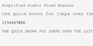 simplified arabic fixed regular download for free view sample