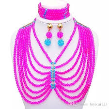 new necklace styles images 2018 2016 new style red african wedding beads jewelry set crystal jpg