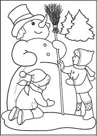 kids are making snowman coloring pages for kids ekm printable
